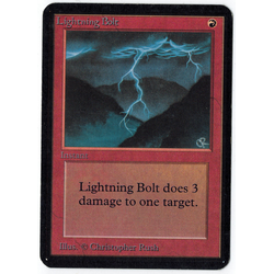 Magic löskort: Alpha: Lightning Bolt