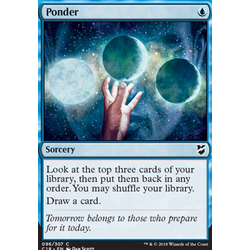 Magic löskort: Commander 2018: Ponder