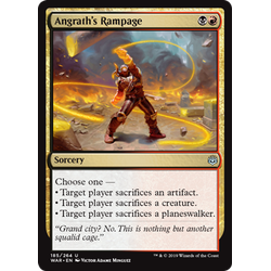 Magic löskort: War of the Spark: Angrath's Rampage