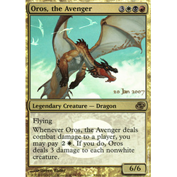 Magic löskort: Planar Chaos: Oros, the Avenger (Prereleasefoil)