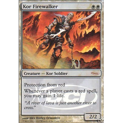 Magic löskort: Promo: Kor Firewalker (Foil)