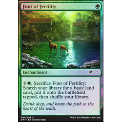Magic löskort: Promo: Font of Fertility (Foil)