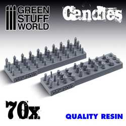 Candles - resin