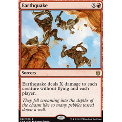 Magic löskort: Commander Anthology: Earthquake