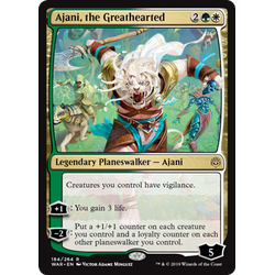 Magic löskort: War of the Spark: Ajani, the Greathearted