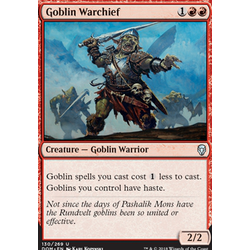 Magic löskort: Dominaria: Goblin Warchief