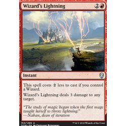 Magic löskort: Dominaria: Wizard's Lightning
