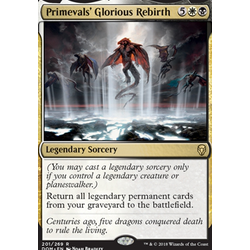 Magic löskort: Dominaria: Primevals' Glorious Rebirth