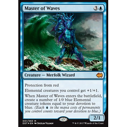 Magic löskort: Duel Decks: Merfolk vs. Goblins: Master of Waves (Foil)