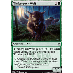 Magic löskort: Masters 25: Timberpack Wolf