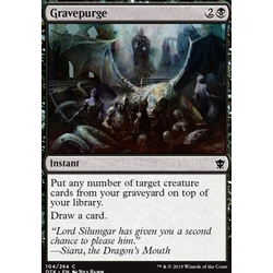 Magic löskort: Dragons of Tarkir: Gravepurge