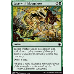 Magic löskort: Conspiracy: Take the Crown: Lace with Moonglove