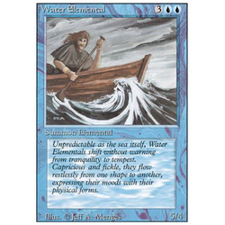 Magic löskort: Revised: Water Elemental