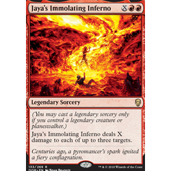 Magic löskort: Dominaria: Jaya's Immolating Inferno