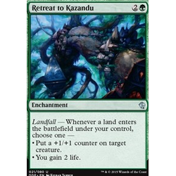 Magic löskort: Zendikar vs Eldrazi: Retreat to Kazandu
