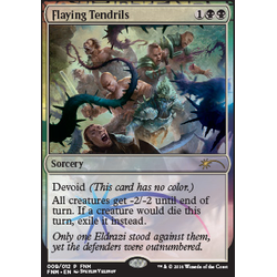Magic löskort: FNM Promo: Flaying Tendrils (Foil)