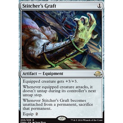 Magic löskort: Eldritch Moon: Stitcher's Graft (Prerelease-Foil)