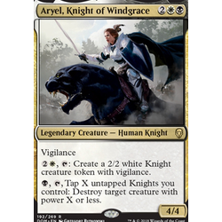 Magic löskort: Dominaria: Aryel, Knight of Windgrace