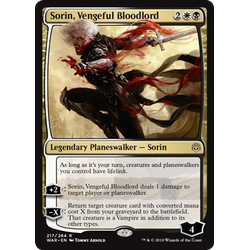 Magic löskort: War of the Spark: Sorin, Vengeful Bloodlord