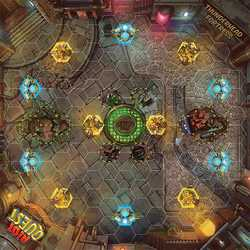 Riot Quest: Thunderhead Fortress - fabric playmat (neoprene)