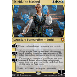 Magic löskort: Commander 2018: Estrid, the Masked (Foil)