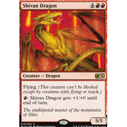 Magic löskort: Welcome Deck 2016: Shivan Dragon