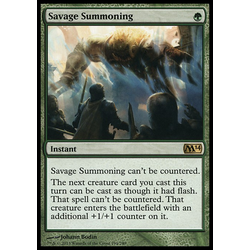 Magic löskort: Magic 2014: Savage Summoning (Foil)
