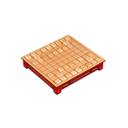 Shogi set with drawer and feet (25x27 cm)