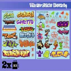 Waterslide Decals - Train and Graffiti - Colors