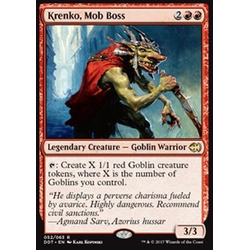 Magic löskort: Duel Decks: Merfolk vs. Goblins: Krenko, Mob Boss