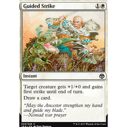 Magic löskort: Iconic Masters: Guided Strike (Foil)