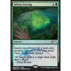 Magic löskort: FNM Promo: Sylvan Scrying (Foil)