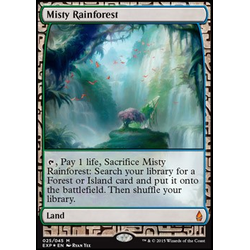 Magic löskort: Expeditions: Misty Rainforest