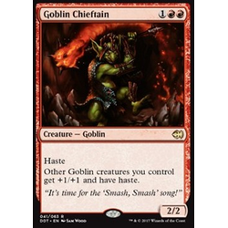 Magic löskort: Duel Decks: Merfolk vs. Goblins: Goblin Chieftain