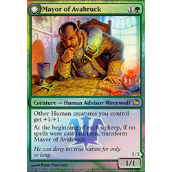 Magic löskort: Innistrad: Mayor of Avabruck (Prereleasefoil)