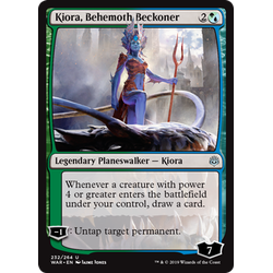 Magic löskort: War of the Spark: Kiora, Behemoth Beckoner