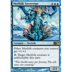 Magic löskort: M10: Merfolk Sovereign