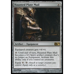 Magic löskort: Magic 2014: Haunted Plate Mail (Foil)