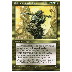 Magic löskort: Chronicles: Dakkon Blackblade