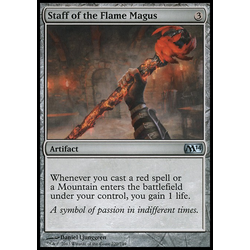 Magic löskort: Magic 2014: Staff of the Flame Magus