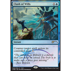 Magic löskort: FNM Promo: Clash of Wills (Foil)