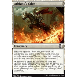 Magic löskort: Conspiracy: Take the Crown: Adriana's Valor