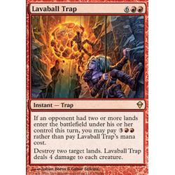 Magic löskort: Zendikar: Lavaball Trap