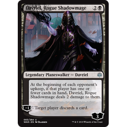 Magic löskort: War of the Spark: Davriel, Rogue Shadowmage
