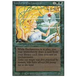 Magic löskort: Revised: Verduran Enchantress