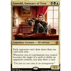 Magic löskort: Conspiracy: Take the Crown: Leovold, Emissary of Trest
