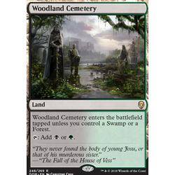 Magic löskort: Dominaria: Woodland Cemetery
