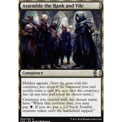 Magic löskort: Conspiracy: Take the Crown: Assemble the Rank and Vile