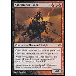 Magic löskort: Shadowmoor: Ashenmoor Liege