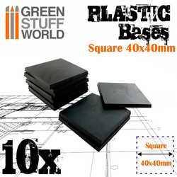 Plastic Bases Square 40x40mm (10)